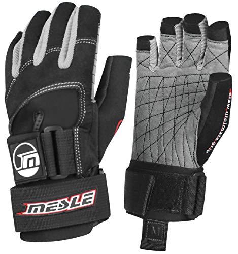 MESLE Handschuhe Ultimate Grip 3/4 blk-rot, Wakeboard- und Wasserskihandschuhe, Größen:XS