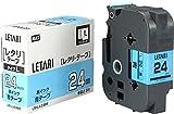 ビーポップミニ テープカセット 24mm幅 青に黒文字 LM-L524BS