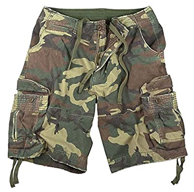 Rothco Vintage Infantry Utility Shorts, Woodland Camo, L