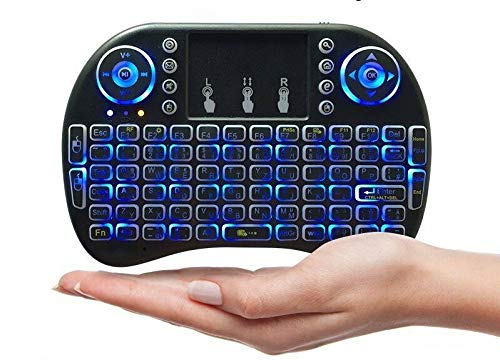 Langguth Mini teclado inalámbrico para Smart TV, teclado inalámbrico con panel táctil, para mando a distancia de Smart TV, PC, PAD, Xbox, PS4, Google Android TV Box, HTPC, IPTV