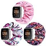 ShuYo per Fitbit Versa Strap Scrunchie, Cinturini di ricambio femminili compatibili con Versa/Versa...