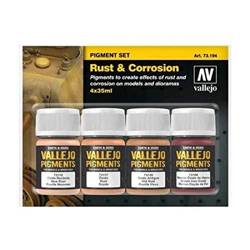 Vallejo Rust & Corrosion Pigment Set 4 x 35ml...