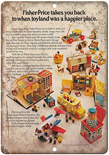 BIT YULALA Fisher Price Toyland Retro Letreros de metal Vintage Letreros Auto...