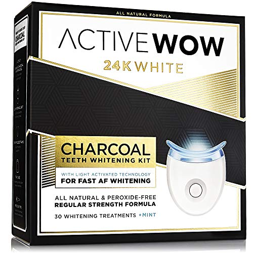 Teeth Whitening Pen with Organic Charcoal & Mint Oil - On The Go Natural Whitening - No Sensitivity Formula