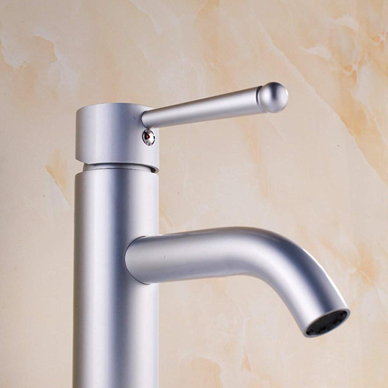 Zhcmy?Faucet Space Aluminum Basin Faucet Space Aluminum Faucet Hot And Cold Water Faucet