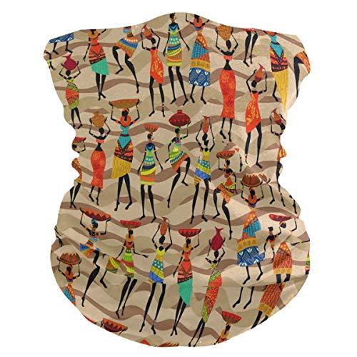 asdew987 Diadema africana para mujer, diseño de cheurón, máscara facial, polaina para cuello, bufanda mágica, pasamontañas para mujeres, hombres, niños y niñas