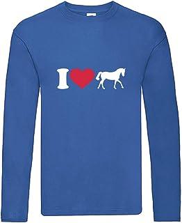 Camiseta de manga larga - I Love Prferd caballos - Camiseta de manga larga unisex para niños y niñas