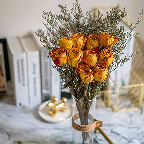 WQAZ Natürliche getrocknete Blumen Natürliche konservierte getrocknete Rose hochzeitsstrauß echte Rosen künstliche Blume Party Hause Hochzeit Dekoration Tisch zubehör Hochzeitsfeier Dekoration