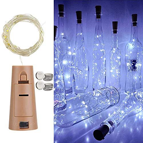 Luz de botella 12 piezas 20 LED 2M botella de cadena de...