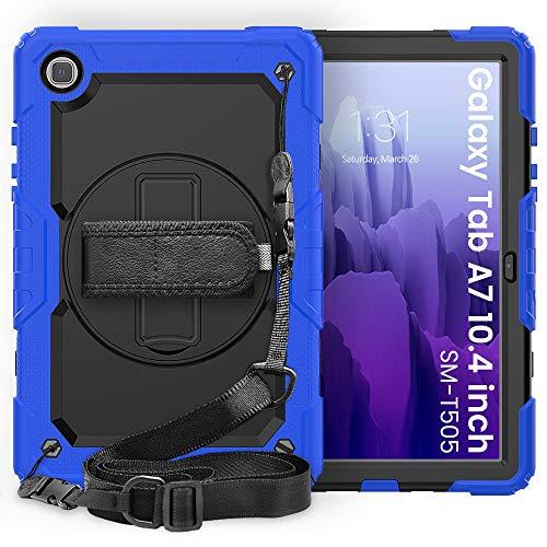 SZCINSEN Funda protectora para Samsung Galaxy Tab A7 10.4 pulgadas T500-T505 2020 Tres capas a prueba de golpes