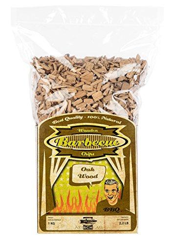 Axtschlag Räucherchips Eiche, 1000 Gramm sortenreine Räucherspäne für besondere Rauch- und Geschmackserlebnisse, für alle Grills