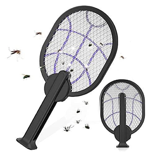 laokudy Mosquito Zapper eléctrico, 2 en 1, Bat Zapper de Insectos Plegable, Lámpara asesina de 3000 V, Matamoscas Recargable para Interiores y Exteriores