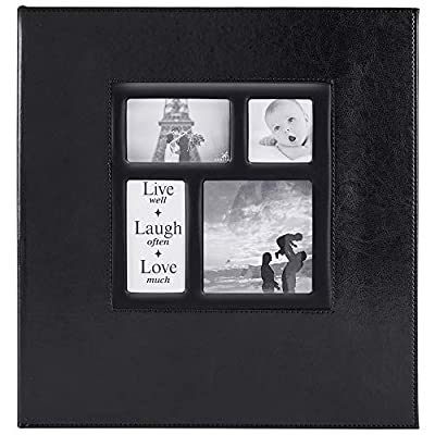 Ywlake Photo Album 1000 Pockets 6x4 Photos, Extra Large Size Leather Cover Slip in Wedding Family Photo Albums That Holds 1000 6x4 / 10x15cm Photos Pictures Black