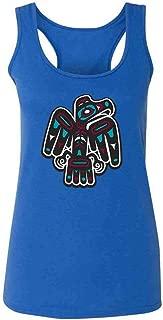 Native American Thunderbird Eagle Totem Symbol Art Fashion Tank Top Tee for Women