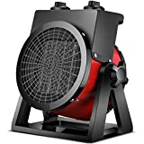 TYX-SS Electric PTC Heaters, 2KW Portable Outdoor Fan Heater, Energy-Saving 2 Speed Plant Electric Space Heater, for Garage Workshop Greenhouse Shed Caravan,Red