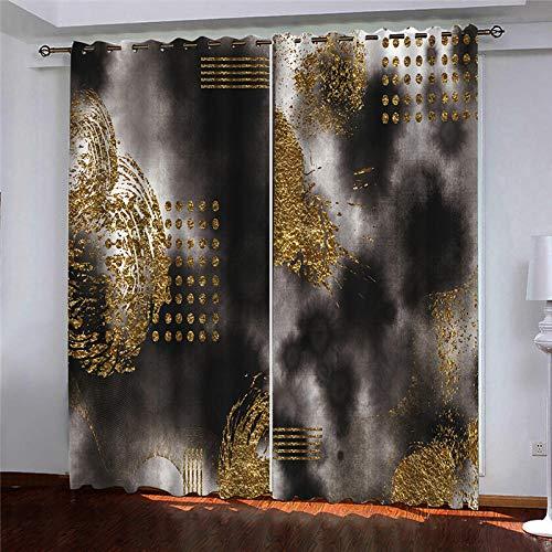 cortinas comedor doradas