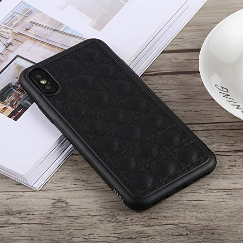 KIOKIOIPO-N Mode Deo-Serie Stoß- TPU + PU-Kasten for iPhone XS Max (Color : Schwarz)