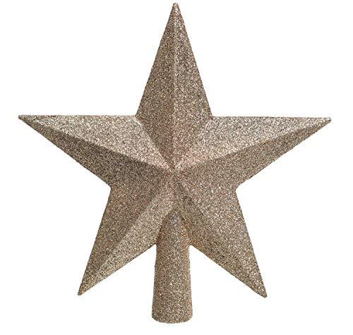 Christbaumspitze Stern Kunststoff Sand Beige Natur