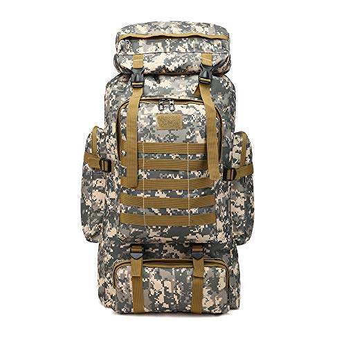 Military Tactical Backpack 70L/80L Large Camping Hiking Backpack Rucksack Waterproof Traveling Daypack