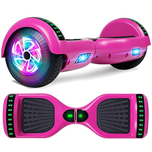 YHR 6.5 Inch Hoverboard with Bluetooth W/Speaker, LED Wheels
