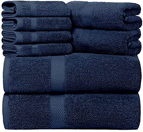 Luxury 8 Piece Bath High quality Towel Set White Hote Special price - Combed 700 Cotton GSM