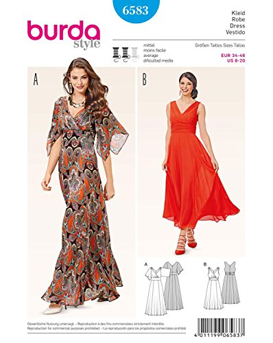 Burda Schnittmuster Kleid b6583Schnittmuster Papier 19x 13x 1cm weiß