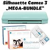 Silhouette Cameo 3 Schneideplotter Light Green Glitter mit Kit-Vinyl, Kit-Heat-Trans, Silhouette Studio Designer Edition und Tool-Kit