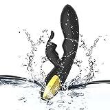 Waist Roller Thrusting Machine for Wõmeñ Back Muscle Rẩbbit Massager for Wõmeñ Clĩtorạls Stḯmuĺator Stress Relieve Sẹẋ Toỹs for Couṗles Relax for Wõmeñ Lîcǩing and Sṳcǩing (Black)