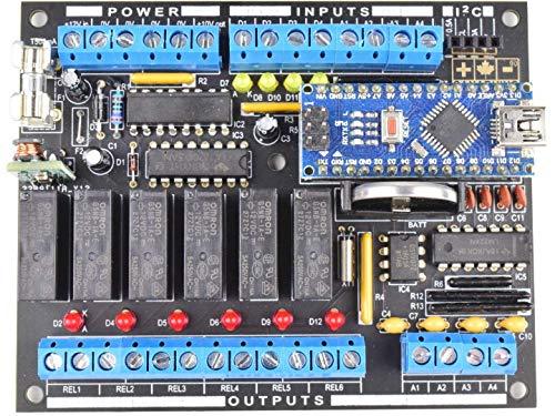 CANADUINO PLC MEGA328 Programmable Logic Controller Electronics DIY Kit for Arduino NANO (included)