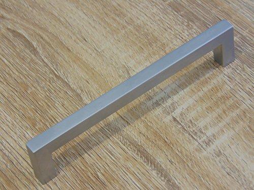 Gedotec Design Schrankgriff Chrom matt Möbelgriff Küche Schubladengriff Modell HALI | Bohrabstand 128 mm | 1 Stück mit Schrauben