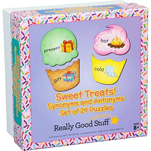 Really Good Stuff Sweet Treats Synonyms and Antonyms Puzzle Set