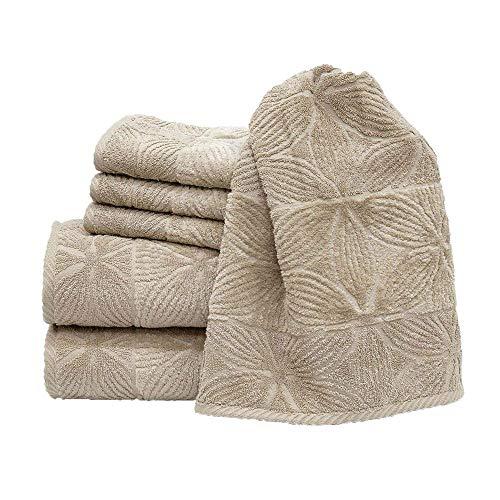 my cocooning Handtuch Set Agatha 6-teilig Beige | kuschelweich & saugfähig | 100% Baumwolle | 2X große Duschtücher (70x140cm) & 4X kleine Handtücher (50x80cm) | waschmaschinenfest