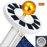 COOVIE Flagpole Solar Light 30LED Downlight Lighting for 15 to 25 Ft Flag