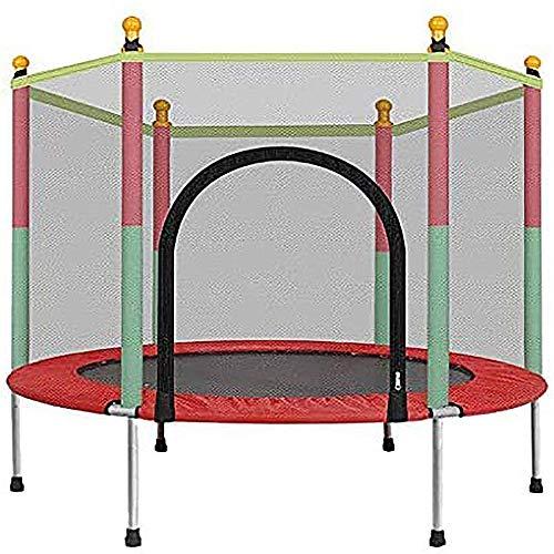 Lin Indoor trampoline voor kinderen, met gesloten mesh-veiligheidsstrampoline, indoor en outdoor trampoline voor entertainment thuis en op school