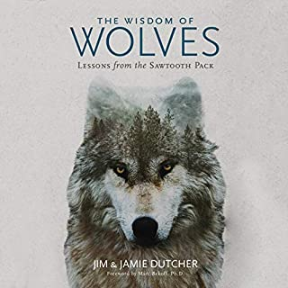 The Wisdom of Wolves     Lessons from the Sawtooth Pack              By:                                                                                                                                 Jim Dutcher,                                                                                        Jamie Dutcher,                                                                                        James Manfull - contributor,                   and others                          Narrated by:                                                                                                                                 Traber Burns,                                                                                        Kate Mulligan,                                                                                        Kevin Kenerly                      Length: 5 hrs and 4 mins     123 ratings     Overall 4.6