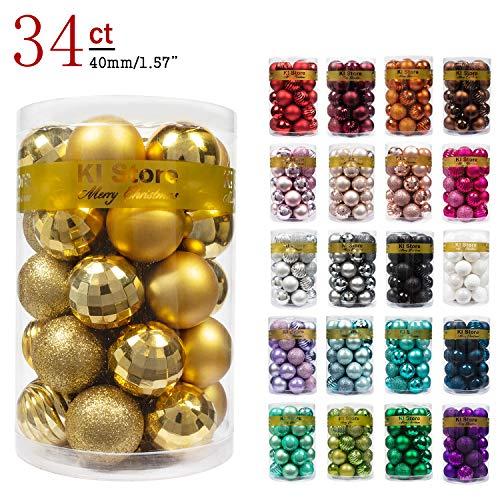 KI Store 34ct Christmas Ball Ornaments 1.57' Small...
