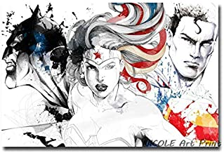 REDWPQ Wall Art Picture Poster Movie Art Poster Pictures Wonder Woman 50 * 75 cm sin Marco