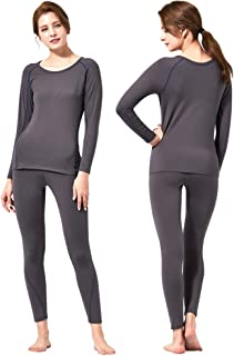 Feelvery Women's HEATPRO Active Performance Long Johns Thermal Underwear Set with Excellent Soft Warm Fleece Lined