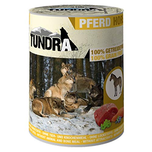 Tundra Hundefutter mit Pferd Nassfutter - getreidefrei (6 x 800g)