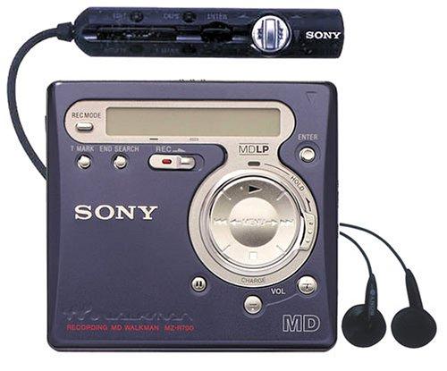 Sony MZ-R700/L tragbarer MiniDisc-Rekorder blau