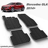 MYD Juego de alfombrillas de goma para Mercedes Ben Z GLA 2014  | Inodoras toda la temporada (completamente delantera y trasera), protección permanente (color – negro)