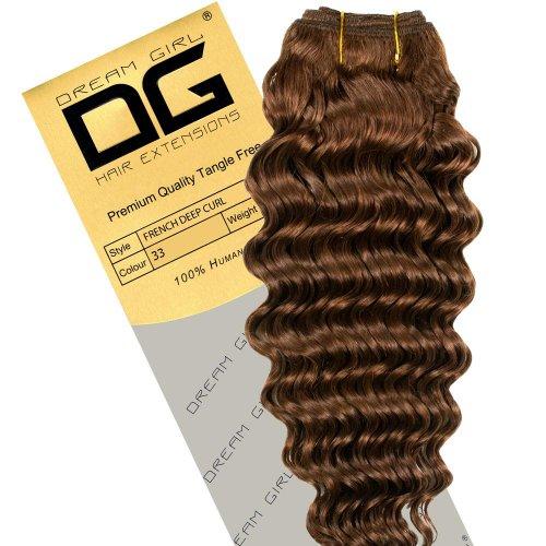 Dream Girl Extensions de cheveux frisés Couleur 33 Longueur 35,5 cm