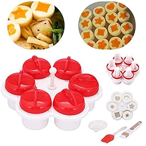 LIUYO Egglettes - Egg Cooker Hard & Soft Maker,Egglettes Cooker Food Grade PP Eggie,Egg Shaper Omelette Nonstick Cooking Tool,Kitchen Gadgets Accessories
