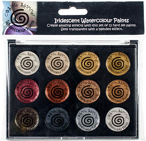 Creative Expressions Cosmic Shimmer Iridescent Watercolor Palette Set 1, Teal Wash