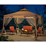 Sunjoy 10'x10' Hampton Softtop Steel Gazebo with Netting