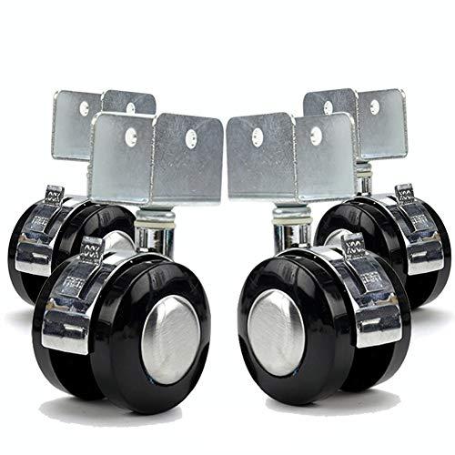 Dans engel 2inch 50mm wieg zwenkwielen U 20mm/25mm socket ABS Silent Castor wielen Swivel rustig rollen twin wielen babybedje 120kg 360° Universeel met rem, Voor tafel stoel Office Trolly 4 packs