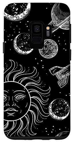 Galaxy S9 Outerspace Sun Space Ship Galaxy Astronaut Milkyway Boy Gift Case