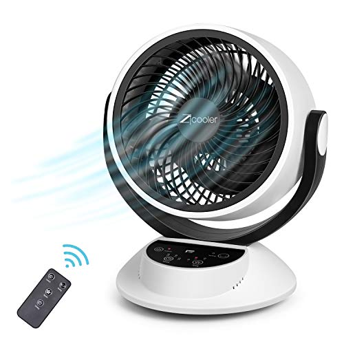 Air Circulator Fan, Quiet Cooling Fan Air Circulator with Powerful Airflow, LCD Touch Screen, Remote Control, Timing, 3-Speed Mode, Air Cooler for Home Bedroom Office, Easy to Install and Use