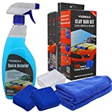 Visbella Clay Bars Auto Detailing Kit, Polishing, Lubricant and Waxing Kit for Car Detailing, Truck, SUV, Car Cleaning and Detailing Kit, with Extra Towel