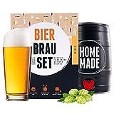 Set per la preparazione della birra chiara, in fusto da 5 l, per gustare la birra in 7 giorni, regalo perfetto per gli uomini
